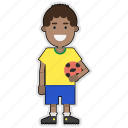 brazil, cup, football, player, soccer, sticker, world icon