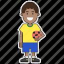 brazil, cup, football, player, soccer, sticker, world