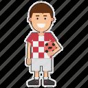 croatia, cup, football, player, soccer, sticker, world icon
