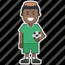 cup, football, nigeria, player, soccer, sticker, world