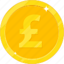 currency, gbp, gold, gold coin, money icon