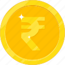 currency, gold, gold coin, inr, money icon