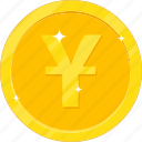 currency, gold, gold coin, money, yuan icon