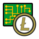 coin, cryptocurrency, currency, digital, exchange, litecoin, wallet icon