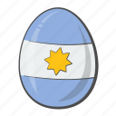 argentina, egg, flag, nation icon