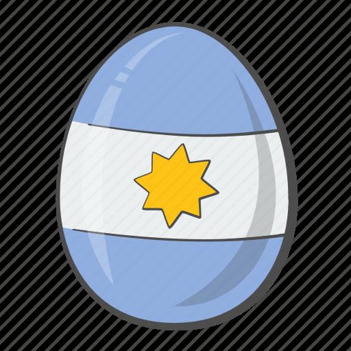 Argentina, egg, flag, nation icon - Download on Iconfinder
