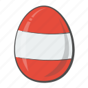 austria, egg, flag, nation icon