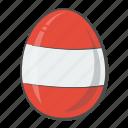 austria, egg, flag, nation