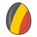 belgium, egg, european, flag icon