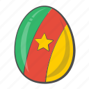 cameroon, easter, egg, flag icon