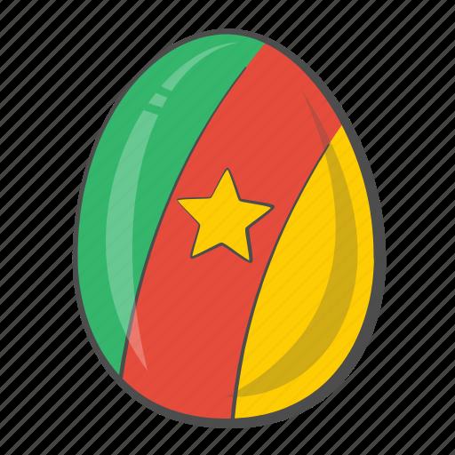 Cameroon, flag, egg, easter icon - Download on Iconfinder
