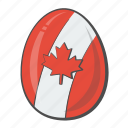 canada, country, egg, flag icon