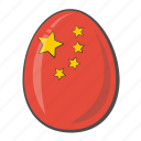 china, egg, flag, national icon