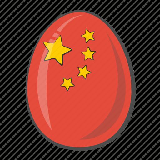 China, egg, flag, national icon - Download on Iconfinder