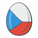 czech, egg, flag, republic, world icon