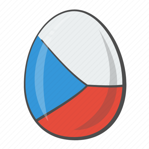 Czech, egg, flag, republic, world icon - Download on Iconfinder