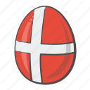 denmark, easter, egg, flag icon