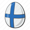 egg, european, finland, flag icon