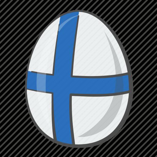 egg, european, finland, flag icon