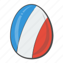 country, easter, egg, flag, france icon