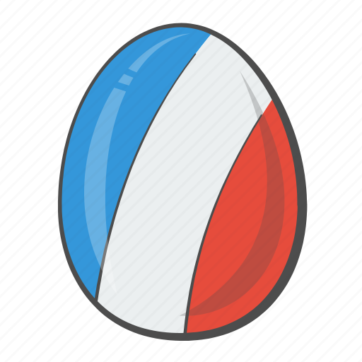 Flag, egg, france, country, easter icon