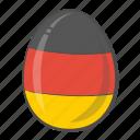 egg, flag, germany, easter