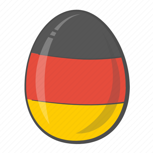 easter, egg, flag, germany icon
