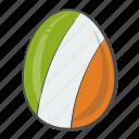 flag, egg, ireland, nation