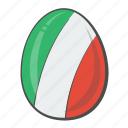 egg, european, flag, italy icon
