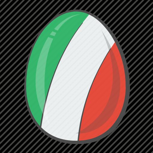 egg, european, flag, italy icon