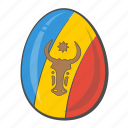country, egg, flag, moldova icon