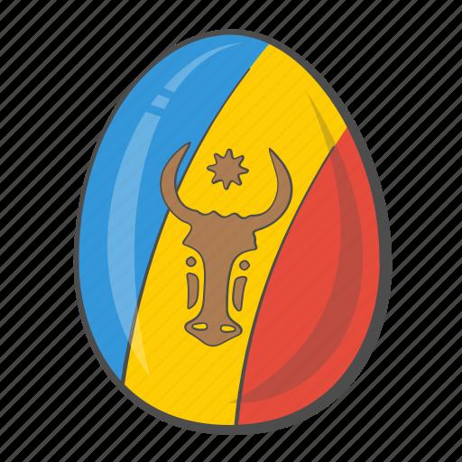 country, egg, flag, moldova icon