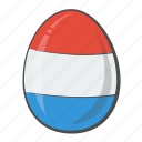 easter, egg, flag, netherlands icon