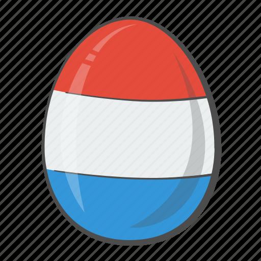 easter, egg, flag, netherlands icon