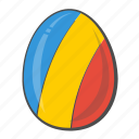 chad, egg, flag, national, romania icon