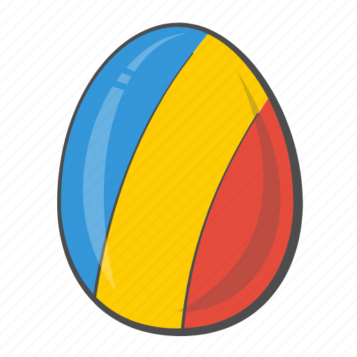 chad, egg, flag, national, romania icon