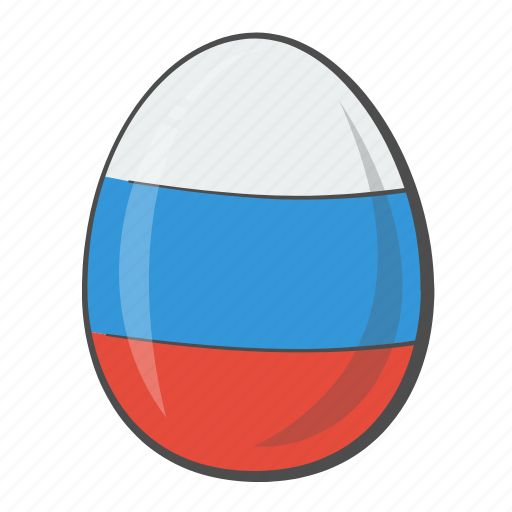 egg, flag, nation, russia icon