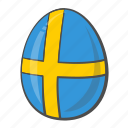 egg, flag, flags, sweden icon