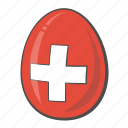 country, egg, flag, switzerland icon