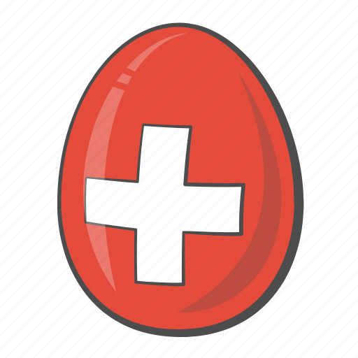 Egg, flag, switzerland, country icon - Download on Iconfinder