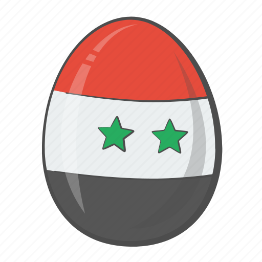 easter, egg, flag, syria icon