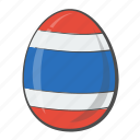 egg, flag, national, thailand icon