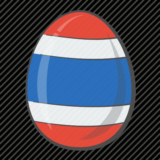 egg, flag, national, thailand icon