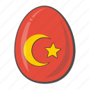 easter, egg, flag, turkey icon