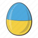 country, egg, flag, ukraine icon