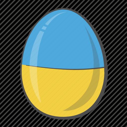 Ukraine, flag, egg, country icon