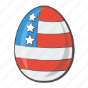 america, country, egg, flag, states, united, usa icon