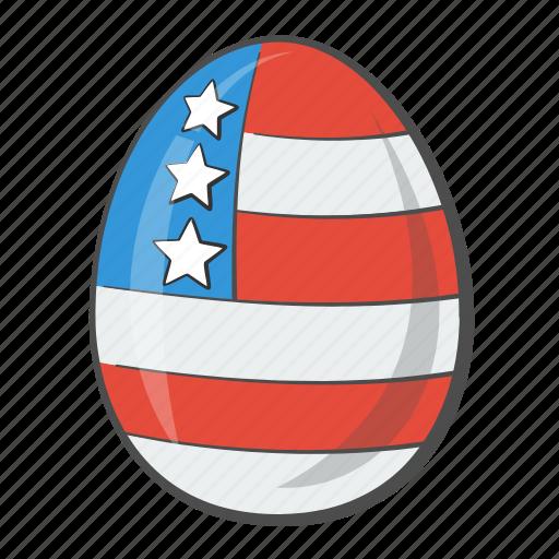 Flag, egg, usa, country, states, united, america icon