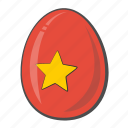 egg, flag, nation, vietnam icon