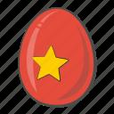 flag, vietnam, egg, nation